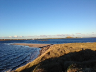Lindisfarne from Ross Sands