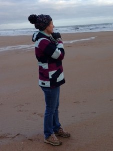 Rachel on Northumberland Coast