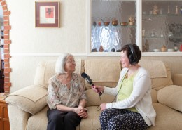 Rachel Cochrane interviews Irene Wilkinson.  Photo by James Sebright