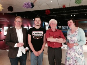 James and I with Ged and Michael, two of our 'interviewees'