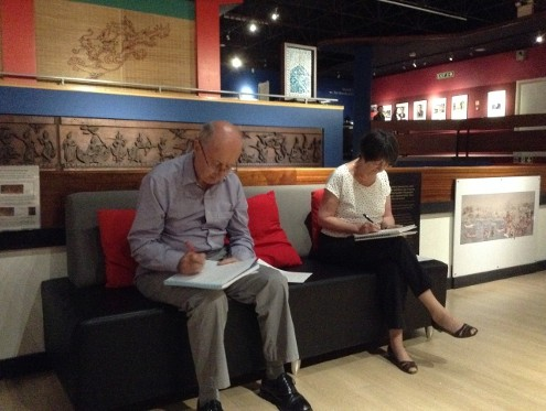 Writing in the Oriental Museum