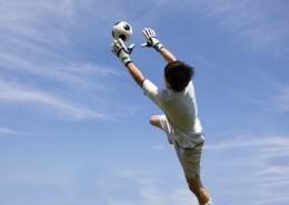 soccer football goal keeper making save