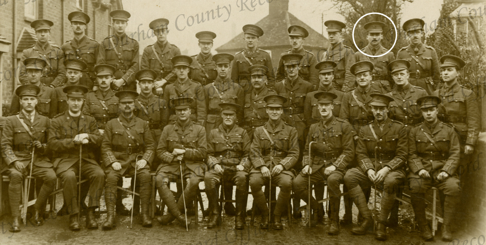 Officers 13th Btn DLI with George Butterworth circled