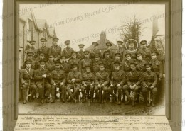 Officers 13th Btn DLI March 1915 (George Burtterworth circled) Reproduced by permission of the Trustees of the former DLI and Durham County Record Office D/DLI 7/75/26