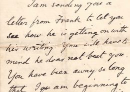 Letter from Harry to Felix 1910