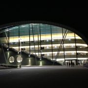 Sage Gateshead at night