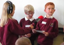 Recording with Y3 pupils Wolsingham Primary School