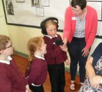 Recording with pupils St John's Chapel PS